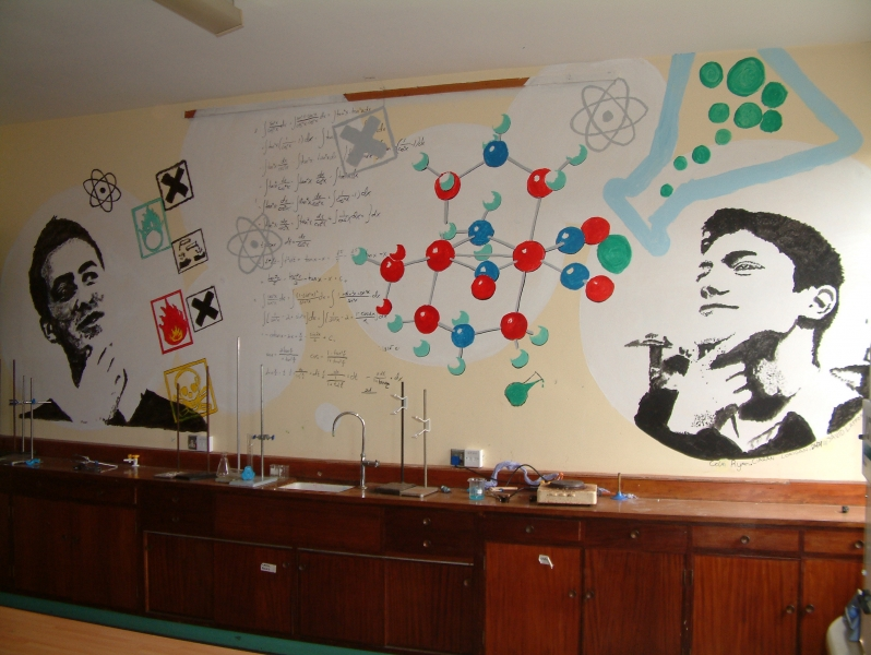 Chemistry Lab Mural by TYO students